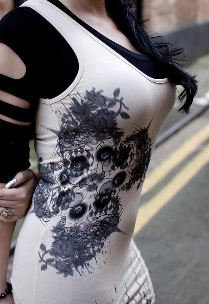 ALTERNATIVE GRUNGE SIDE SEAM DOLL VEST BODY CON DRESS