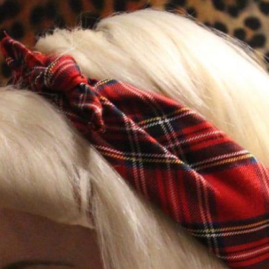 ALTERNATIVE TARTAN HEAD SCARF BANDANA PIN UP GIRL