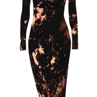 cut out bleach midi dress