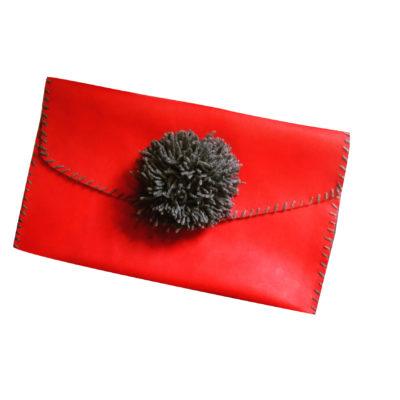Red Pom Pom Bag