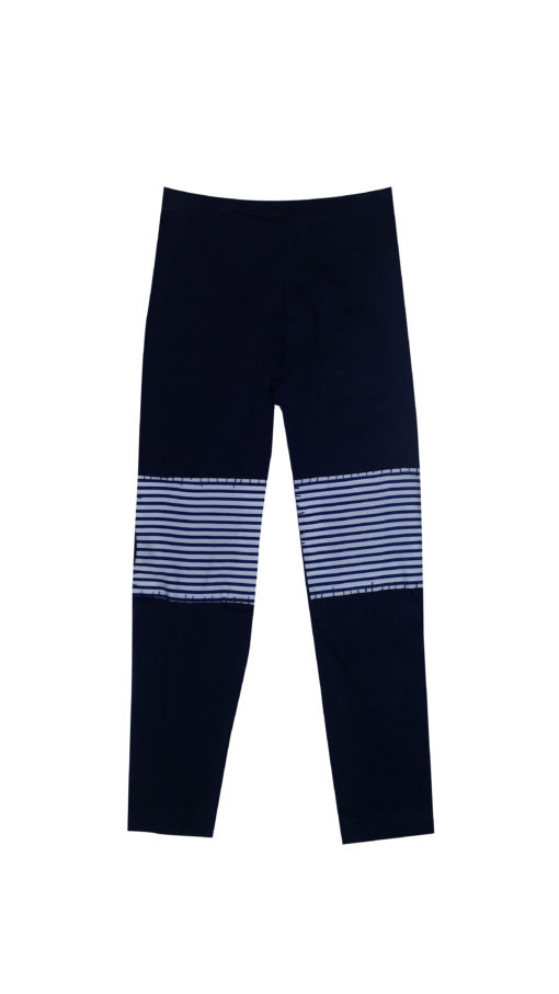 Cut out navy patch leggings