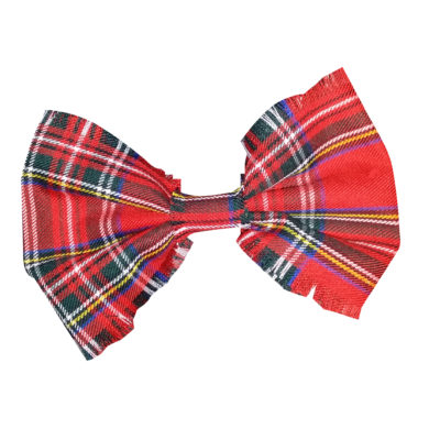 cut out head bow tartan